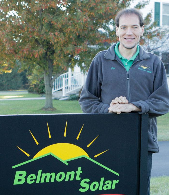 Belmont solar owner Ben Zook