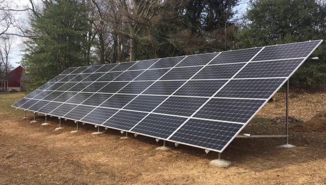 17 kW Ground Mount Installation