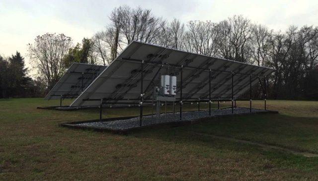 18 kW ground mount solar array