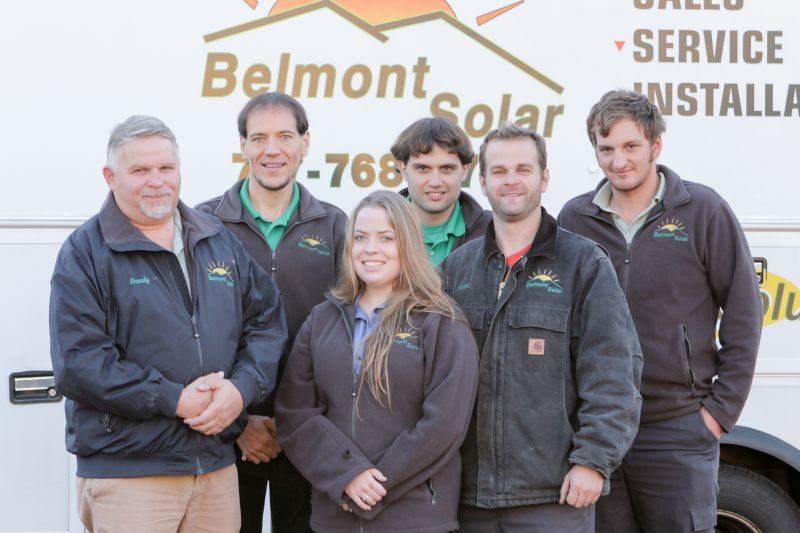 A team picture of Belmont Solar, a premier solar installation company.