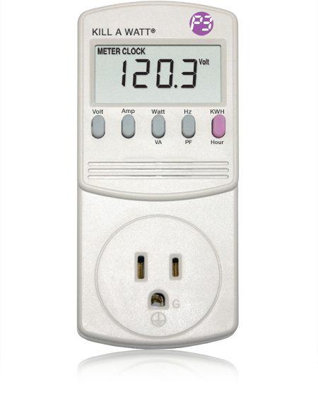 Using a Kill A Watt meter is a smart energy saving tip
