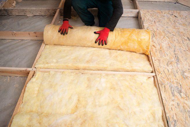 Using batt insulation in you net zero house is a big energy saving tip.