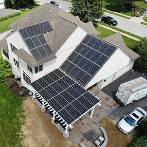 House Install by solar energy installer in Pa