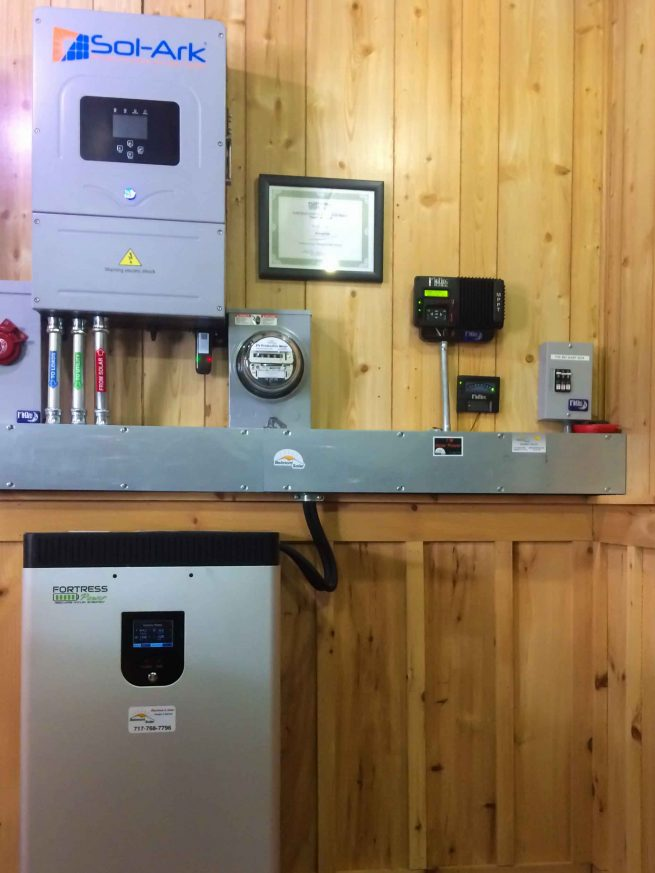 A solar installation with a battery backup