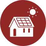 A Net Zero Home with solar panels.