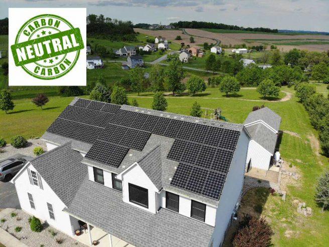 A carbon neutral net zero home.