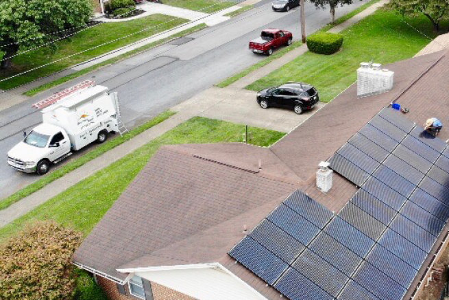 A Net Zero Home with a roof mounted solar system.