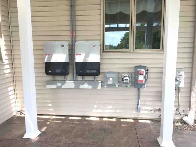 net zero home grid tie with battery backup