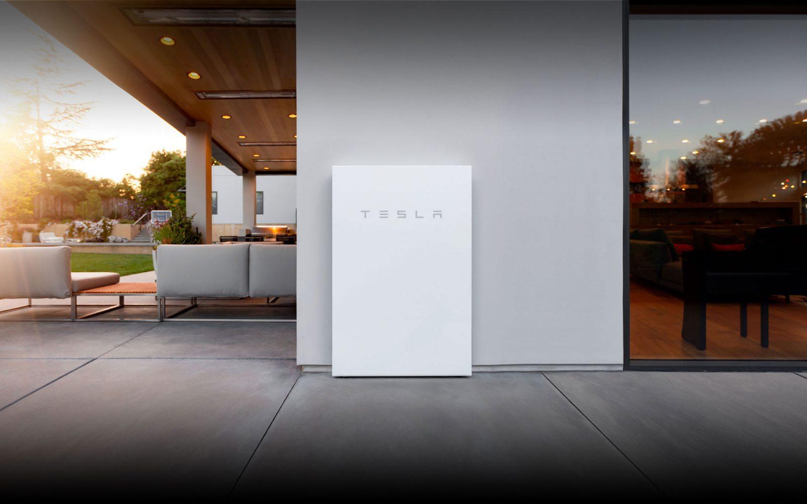 outdoor powerwall tesla battery installation